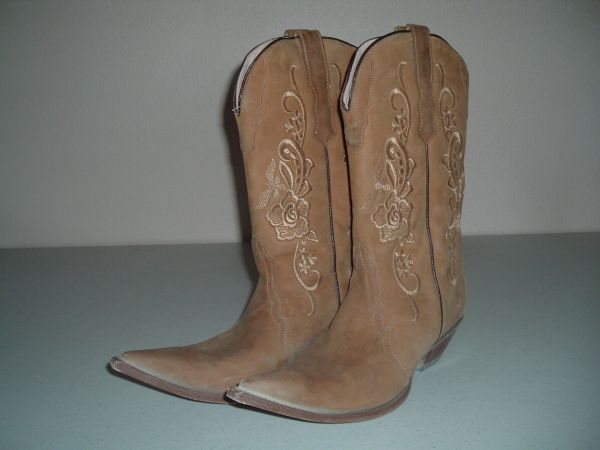 RUDEL COWBOY LEATHER BOOTS WOMENS SIZE 8 - $39 (Sherman, TX)