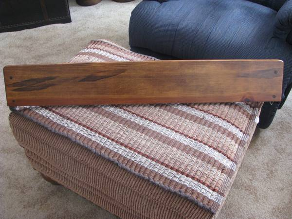 Handmade 100  Wooden Wall Shelf with 2 Peg Hangers 37 5 X 5 5 X 8 0 -   x0024 10  Texoma