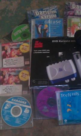 turn your DVD into a karaoke machine - $50 (bells)