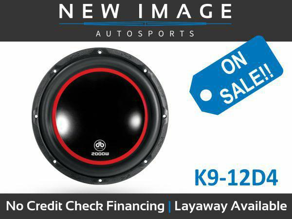 $1, DB DRIVE K9 12 DVC Subwoofer 2000 Watts Dual 4 Ohm Voice Coil