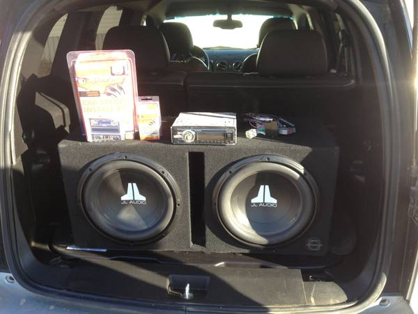 2 JL Audio 12s ported box, Sony CD player, Dash kit, wiring harness - $250 (Colbert )
