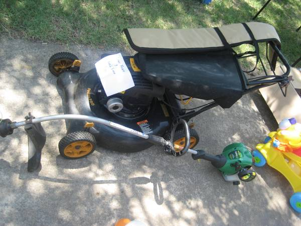 push lawn mower and weed eater for sale - $150