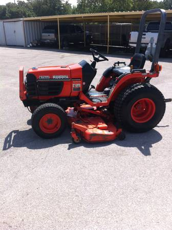Kubota B7500 with belly mower - $6500 (Ardmore Ok.)
