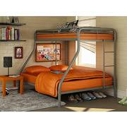 Twin Over Full Metal Bunkbed wTwin and Full Size Mattresses - $300