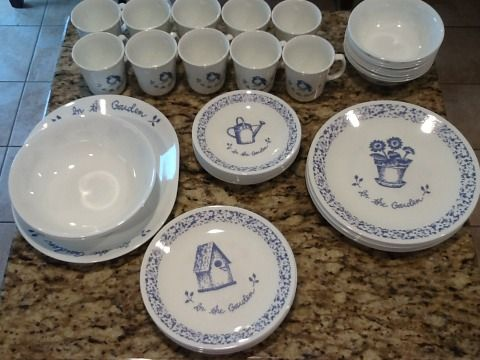 Set of Corelle dishes - $30 (Sherman)