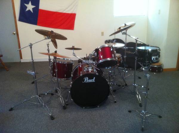 Pearl Export Series Drumset - $700 (Denison)