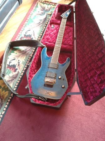 ESP LTD MH401 - Guitartransparent blue - $400 (CommerceGreenville)