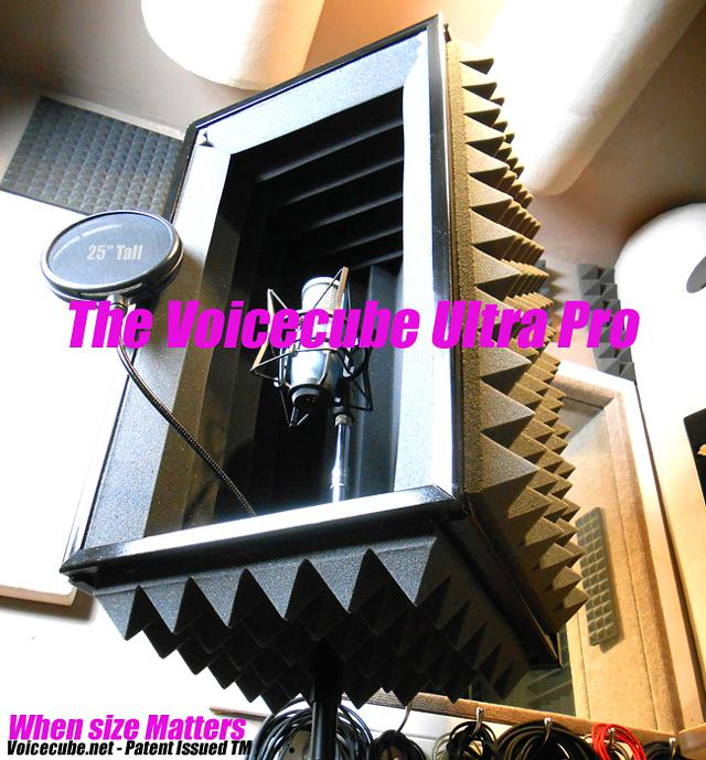 Portable vocal booth - Reflexion filter - Microphone shield - Acoustics - VoiceCube.net