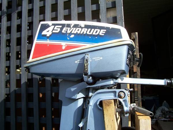 4 5 hp  1980 Evinrude  built in tank  F-N-R twist grip throttle  -   x0024 150  Duncan area