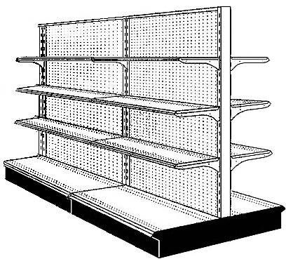 Retail Display Shelving Fixtures -- Double Sided Gondolas, Like New - $3500 (Victoria)