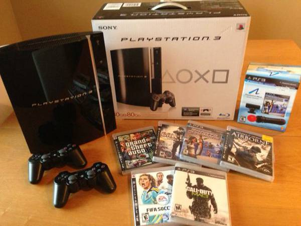 PS3 with many extras (move bundle) controllers x 2 plus games - $200 ( - $200 (Victoria)