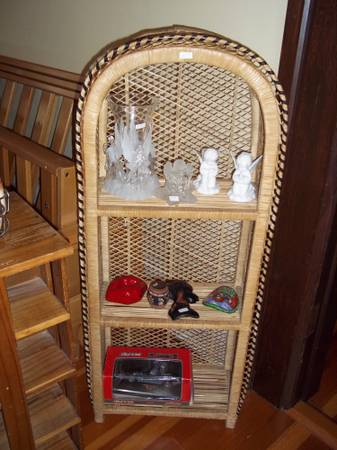 Wicker shelving unit - x002423 (oak bay)
