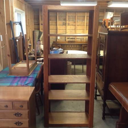 2 large solid oak shelving units - $75 (victoria)