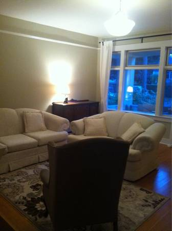 White Couch and Loveseat Set - $200 (Gorge)