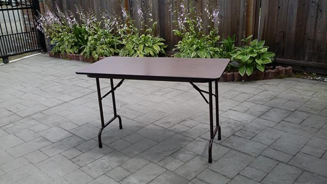 20  folding table 4 ft