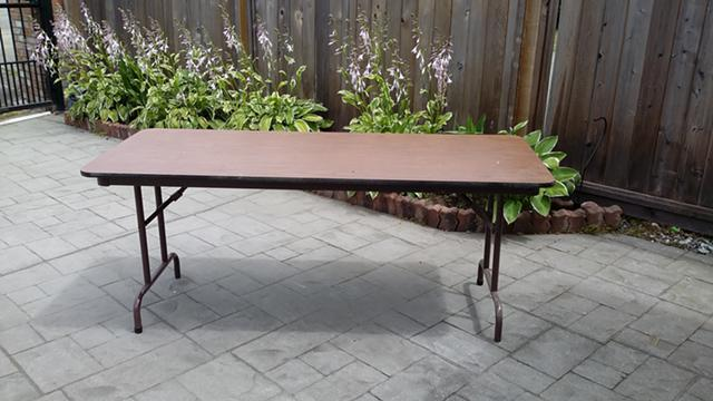 30  folding table 6 ft