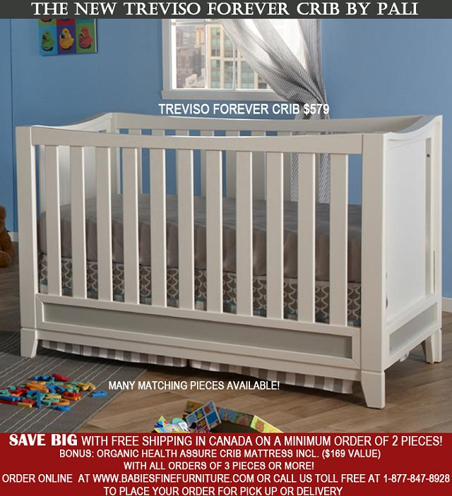 $349, May SPECIALS Available on Pali Design Furniture Free Shipping in Canada Nursery Sets