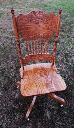 Pressed Back Office Chair   OAK - $120 (Sidney  - Victoria)