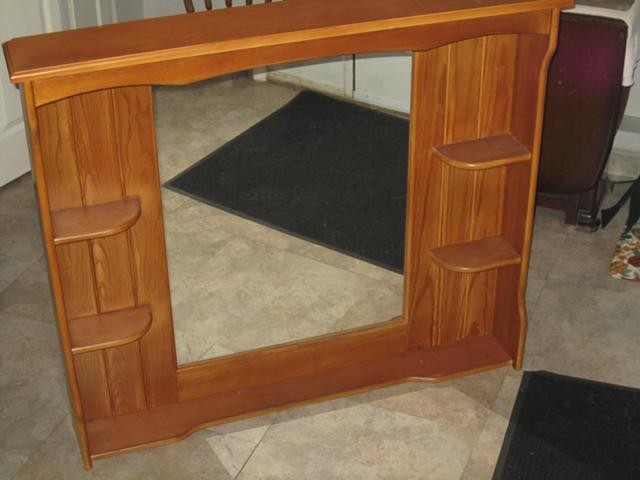 45  Hanging Wall Hutch with Mirror