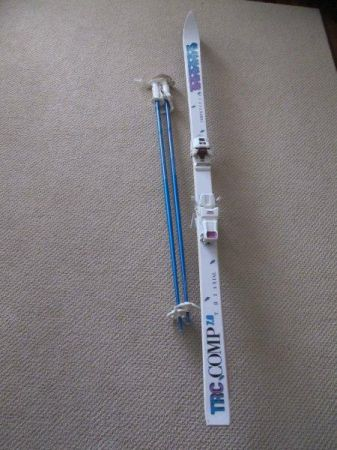 K2 TRC Comp Skis - 185cm with Marker twin cam bindings and poles - $70 (Saanich - Gordon Head)