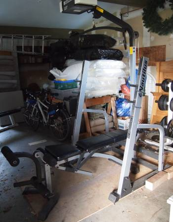 Nautilus Squat Rack with Lat Pulldown and InclineDecline Bench - $100 (Victoria)