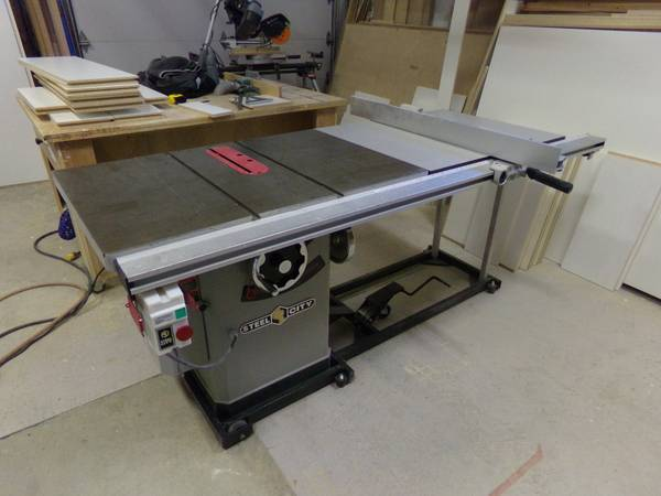 10  Steel City Deluxe Cabinet Saw  -   x0024 1250  Courtenay