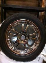 Custom Falken Chrome Rims and Tires - $300 (Victoria)