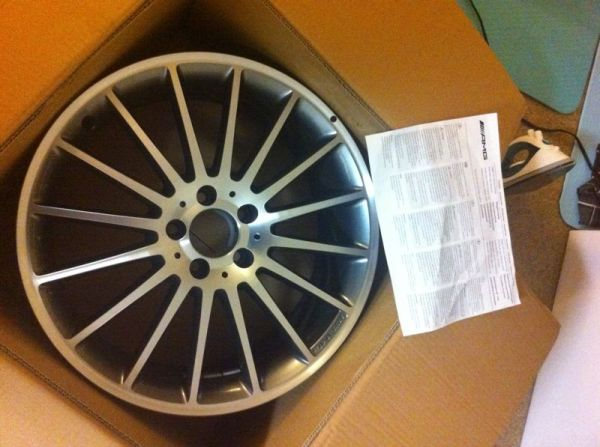NEW C63 coupe front rear AMG rims - $2000