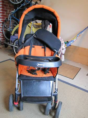 Joovy Caboose double sit and stand stroller - $75 (Victoria)