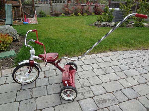 Mity Trikes Step Up Tricycle with Push Handle - $45 (Oak Bay)