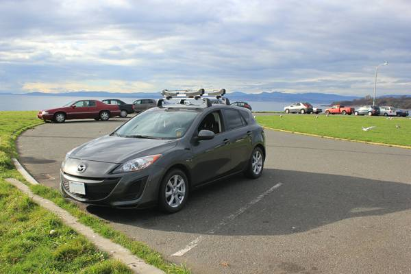 2011 Mazda3 Sport Hatchback with Thule Roof-rack - $17900