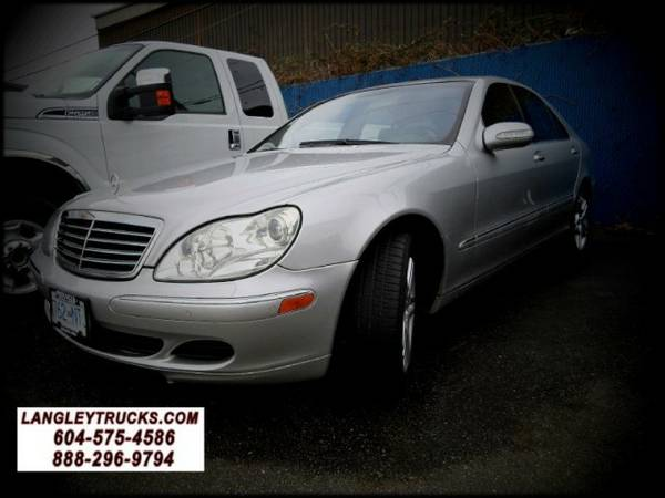 2003 Mercedes-Benz S CLASS S430 4MATIC ALL WHEEL (same as S500) with Dual xenon - $10888 (LANGLEYTRUCKS.COM - GAS DIESEL LIFTED - GUARANTEED APPROVAL)