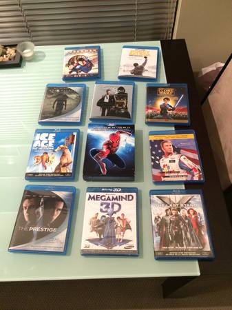 13 Blu Ray Movies -   x0024 100  Vic West
