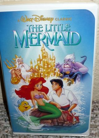 The Little Mermaid VHS -Banned Copy, OOP (used copy) - $50 (Brentwood Bay)