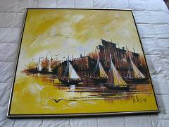 Painting Original Abstract Oil on Stretched Canvas by R Styles - $900 (Comox)