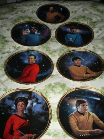 Set of 8 Star Trek commemorative plates -   x0024 50  Saanich
