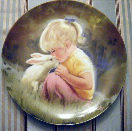 Set of 6 Children Pets Collector Plates by Donald Zolan - $150 (Langford)