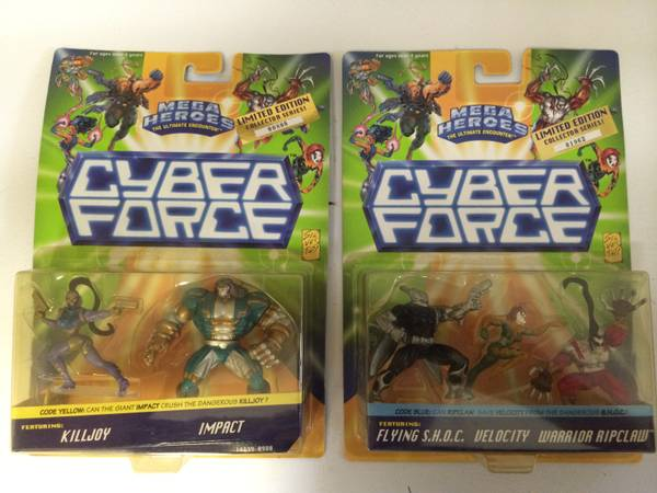 Cyber Force Figures MIB -   x0024 5  abbotsford