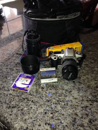 Canon EOS Rebel G 35mm SLR Film Camera Tamron 100-300mm Zoom Lens - $125 (victoria bc)