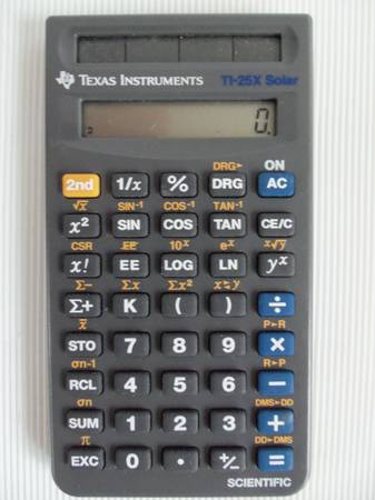 Texas Instruments Ti-25X Solar Scientific Calculator - $25 (Saanich)