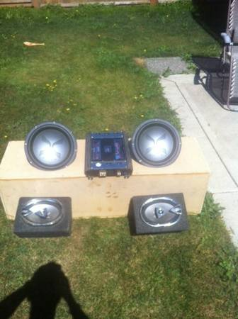 2-12in Exile Comp Subs, Sub Box built for both, 1500W , - $300 (Langford)