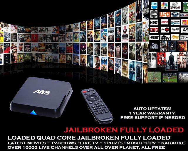 100  Fully Loaded Quad Core Android TV Box 10k LiveTV 100k Movies FREE NO SUBSCRIPTION 124 sellsim com