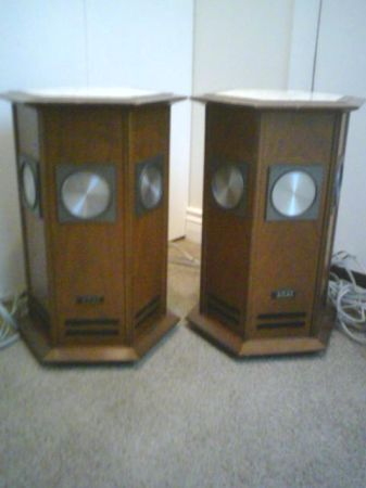 akai octagon speakers - $200 (sidney b.c.)
