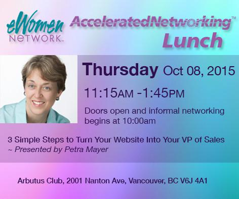 eWomenNetwork Luncheon 3 Simple Steps to Turn Your Website into your VP of Sales