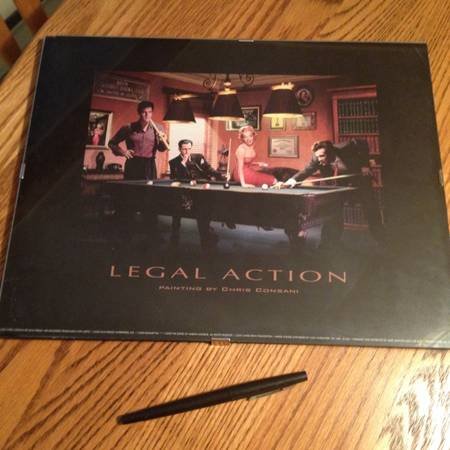 Tin posters and Legal Action poster - $7 (Saanich)