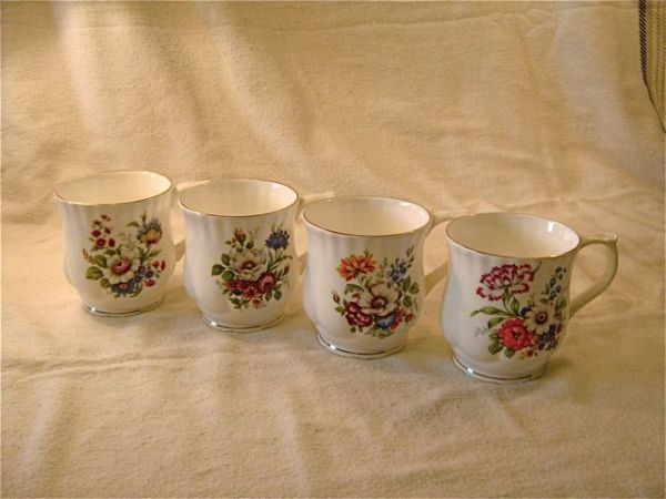 Fine Bone China- Tienshan-4 Mugs - $12 (Esquimalt)