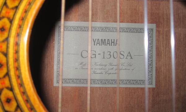 Yamaha Classical guitar with case - $400