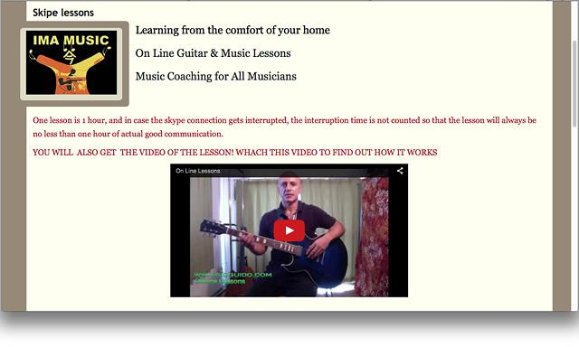 Guitar Lessons by a Real Guitar Master Over 30y experience