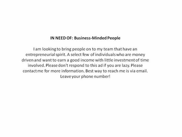 Looking for motivated team members