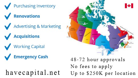 Small Business Loans Canada - 4 Hour Responses - Get Up To $250-350K per Location